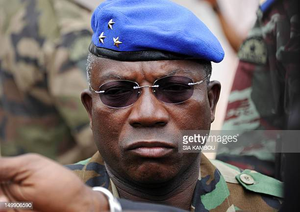 Ivory Coast's military Chief of Staff Soumaila Bakayoko is pictured during a visit of the Akouedo military camp in Abidjan on August 6 2012 A raid on...