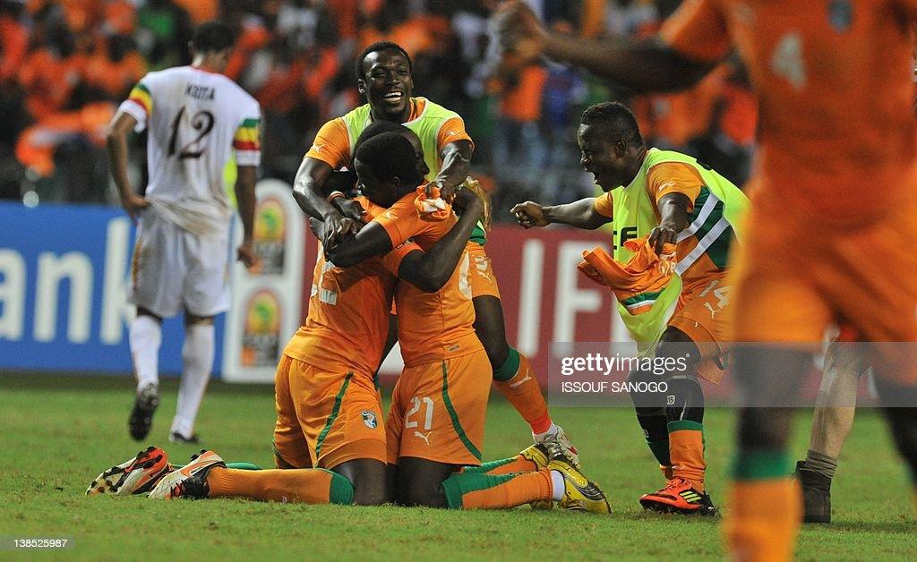 Ivory Coast's national football team pla : News Photo