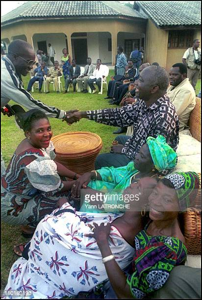 Ivory Coast's President Laurent Gbagbo back to his home village in Côte d'Ivoire on November 30 2000 Ivory Coast's President Laurent Gbagbo visits...