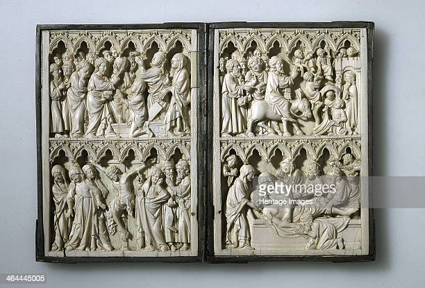 Ivory diptych with scenes from Life of Christ 14th century Found in the collection of the National Museum Palace of the Grand Dukes of Lithuania