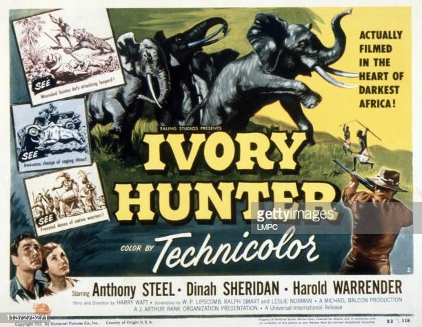 Ivory Hunter poster bottom from left Anthony Steel Dinah Sheridan 1951