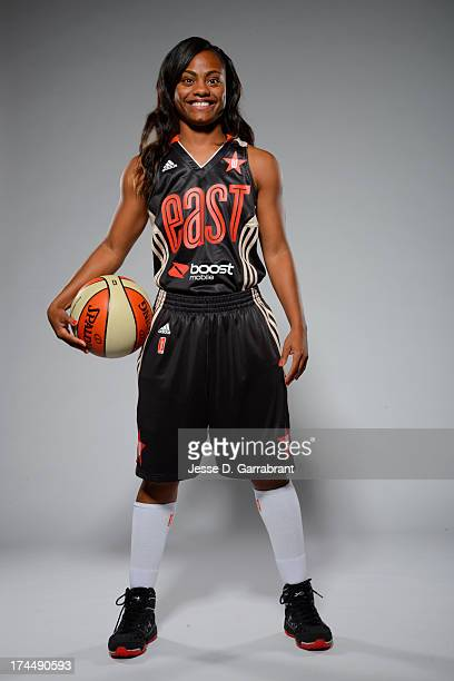 Ivory Latta of the Eastern Conference AllStars poses for a portrait during the WNBA AllStar Media Circuit on July 26 2013 at Mohegan Sun Arena in...