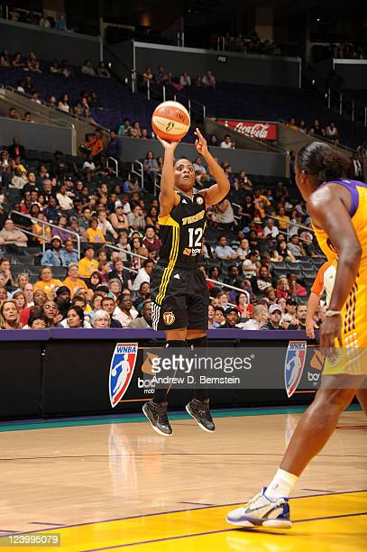 LOS Ivory Latta of the Tulsa Shock shoots the ball against the Los Angeles Sparks at Staples Center on August 26 2011 in Los Angeles California NOTE...