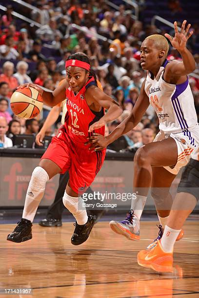 Ivory Latta of the Washington Mystics drives to the basket against the Phoenix Mercury on June 21 2013 at US Airways Center in Phoenix Arizona NOTE...