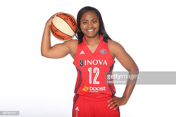Ivory Latta of the Washington Mystics poses for a photo during 2014 Washington Mystics media day at the Verizon Center on April 28 2014 in Washington...