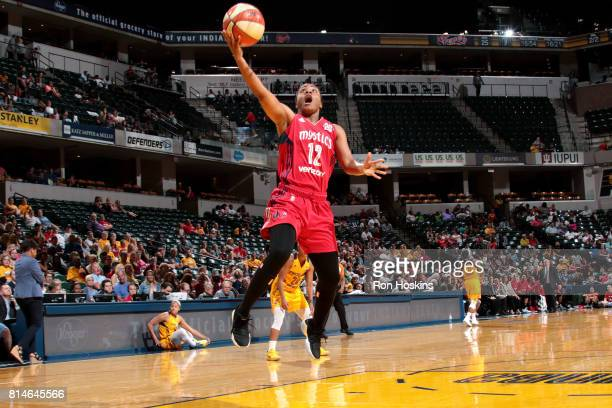 Ivory Latta of the Washington Mystics shoots a lay up during the game against the Indiana Fever during a WNBA game on July 14 2017 at Bankers Life...