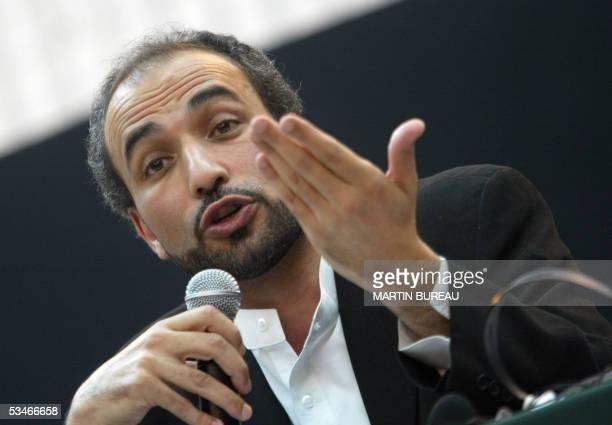 A file photo taken 15 November 2003 shows Muslim scholar Tariq Ramadan talking during the European Social Forum in IvrysurSeine Ramadan banned from...