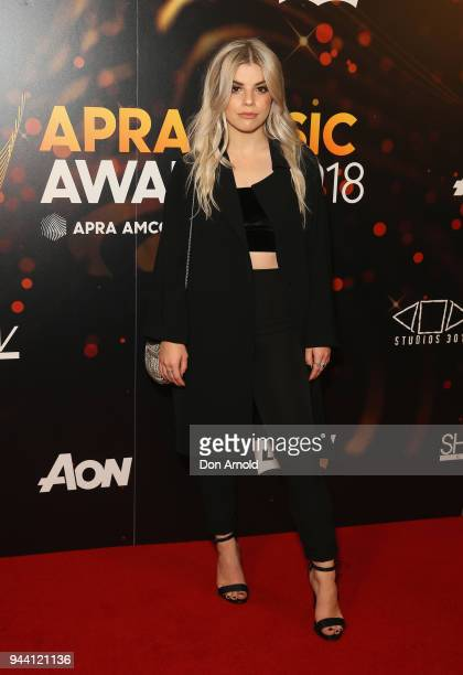 Ivy Adara arrives ahead of the 2018 APRA Music Awards at ICC Sydney on April 10 2018 in Sydney Australia