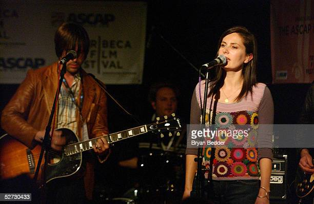 Ivy Band members perform during the Tribeca Film Festival Music Panel at The ASCAP Lounge The ASCAP Music Lounge is dedicated to showcasing the...