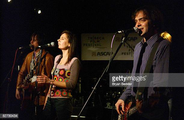 Ivy Band members perform during the Tribeca Film Festival Music Panel at The ASCAP Lounge. The ASCAP Music Lounge is dedicated to showcasing the...