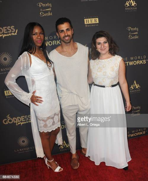 Ivy Ejam Oshri and Lousine Karibian at The World Networks Presents Launch Of The Goddess Empowered held at Brandview Ballroom on May 17 2017 in...