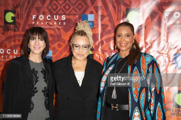 Ivy Kagan Bierman Kasi Lemmons and Kim Ogletree attend the Greenlight Women For Black History Month Brunch Celebration at The London on February 17...