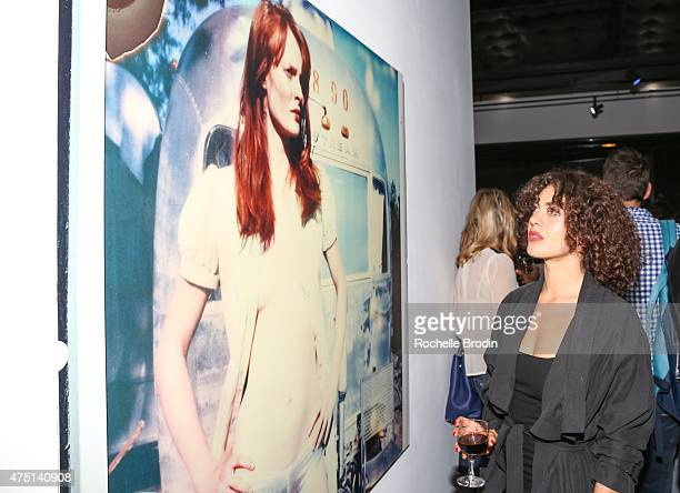 Ivy Lauren attends the 'Blue Nudes' exhibition at De Re Gallery on May 28 2015 in West Hollywood California