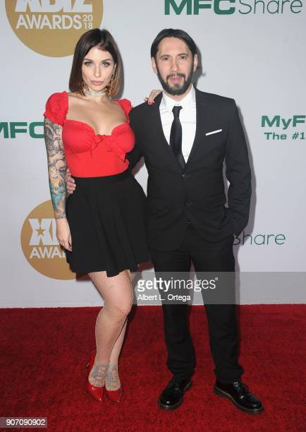 Ivy Lebelle and Tommy Pistol arrive for the 2018 XBIZ Awards held at JW Marriot at LA Live on January 18 2018 in Los Angeles California