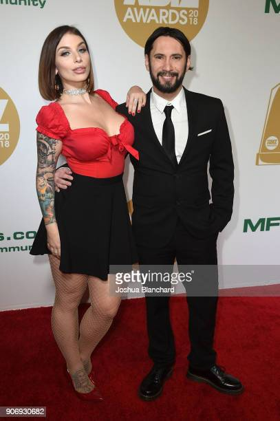 Ivy Lebelle and Tommy Pistol attend the 2018 XBIZ Awards on January 18 2018 in Los Angeles California