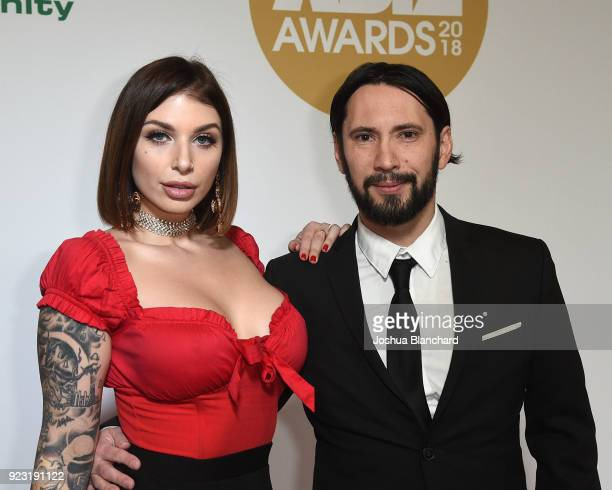 Ivy Lebelle and Tommy Pistol attends the 2018 XBIZ Awards on January 18 2018 in Los Angeles California