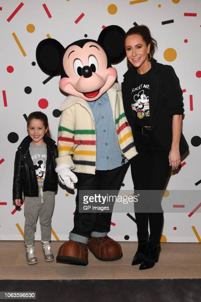 Ivy Mulroney Mickey Mouse and Jessica Mulroney attend Hudson's Bay welcomes everyone's favorite pal Mickey Mouse To Queen Street Store For 90th...