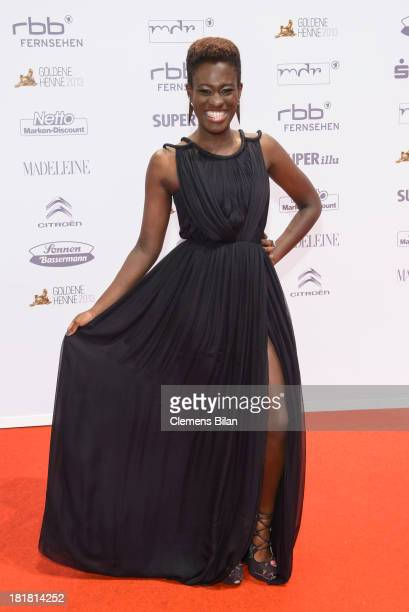 Ivy Quainoo arrives for the Goldene Henne 2013 award at Stage Theater on September 25 2013 in Berlin Germany