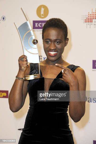 Ivy Quainoo poses at the Echo Awards 2013 Winners Board at Palais am Funkturm on March 21 2013 in Berlin Germany