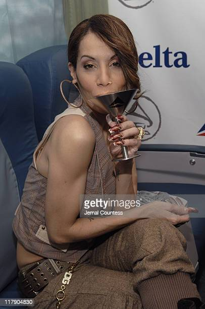 Ivy Queen at the Delta Airlines Gift Station during The 7th Annual Latin GRAMMY Awards Backstage Lounge by Distinctive Assets Day 2 at Madison Square...