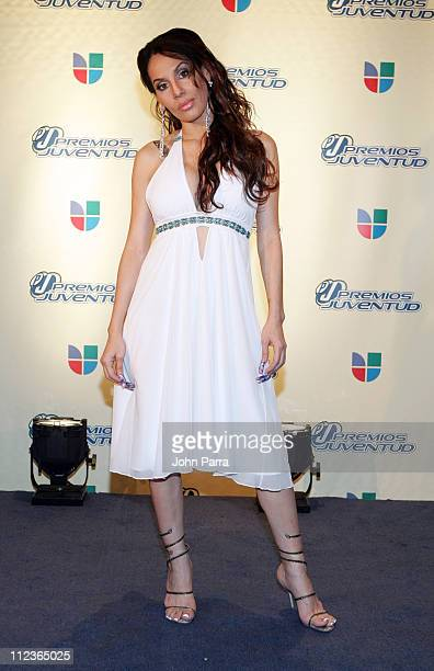 Ivy Queen during 2005 Premios Juventud Awards Pressroom and Backstage at University of Miami Convocation Center in Miami Florida United States