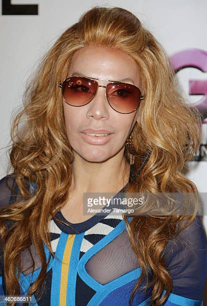 Ivy Queen makes an appearance at Score nightclub to promote her new album 'Musa' and talk about her 'Viva Puerto Rico' Tour on January 14 2014 in...