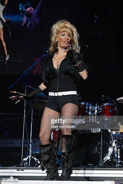 Ivy Queen performs at the La Kalle Block Party Concert 2007 at Madison Square Garden on October 3 2007 in New York