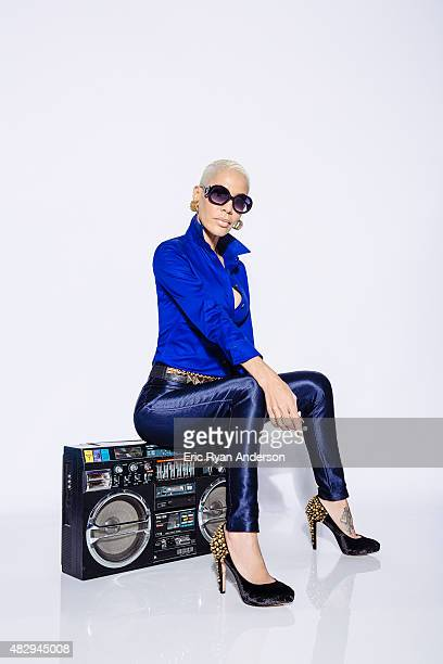 Ivy Queen poses for a portraits at the 2015 Billboard Latin Music Conference for Billboard Magazine on April 29 2015 in Miami Florida