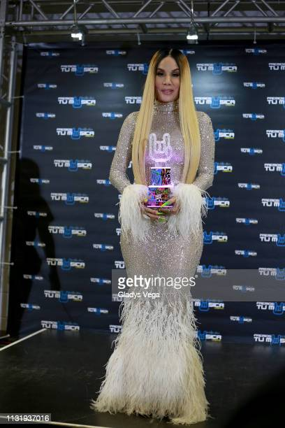 Ivy Queen receives Trajectory Award as part of 2019 Premios Tu Musica Urbano at Coliseo Jose M Agrelot on March 21 2019 in San Juan Puerto Rico