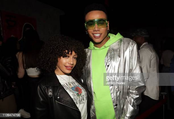 Ivy Rivera and Bobby Lytes attend the NFL Draft Viewing Party Hosted By Wale, Le'Veon Bell and Derrick Jones at Pomona on April 25, 2019 in New York...