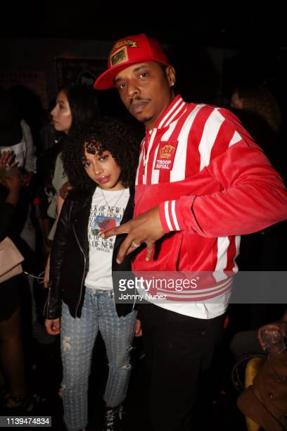 Ivy Rivera and Ronny M.a.k attend the NFL Draft viewing party hosted By Wale, Le'Veon Bell and Derrick Jones at Pomona on April 25, 2019 in New York...