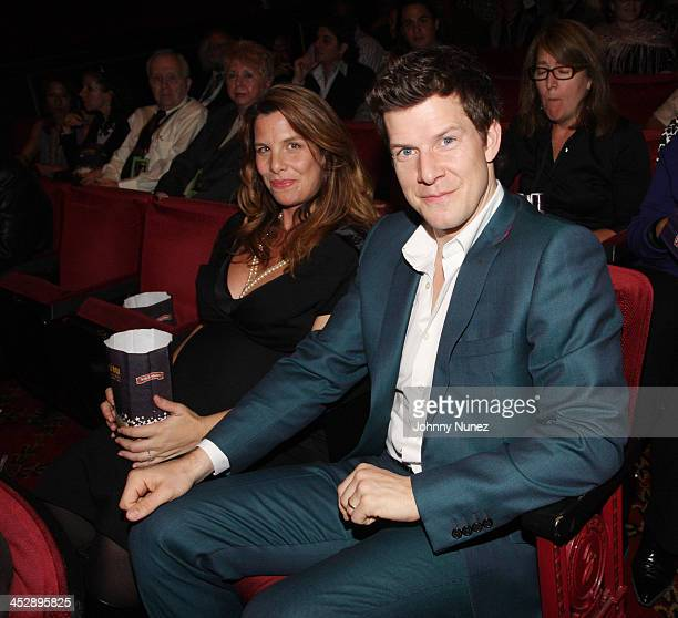 Ivy Sherman and Eric Mabius attend the premiere of Miracle at St Anna at the Ziegfeld Theatre on September 22 2008 in New York City