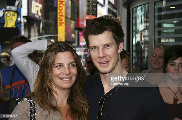Ivy Sherman and Eric Mabius attend the unveiling of Playhouse Disney's line of preschool toys and electronics at Toys R Us in Times Square on...