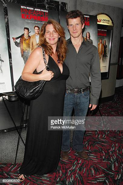 Ivy Sherman and Eric Mabius attend THREE OLIVES presents PINEAPPLE EXPRESS screening arrivals and afterparty at AMC Loews and Tenjune NYC on August 5...
