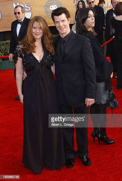 Ivy Sherman and Eric Mabius during 13th Annual Screen Actors Guild Awards Arrivals at Shrine Auditorium in Los Angeles California United States