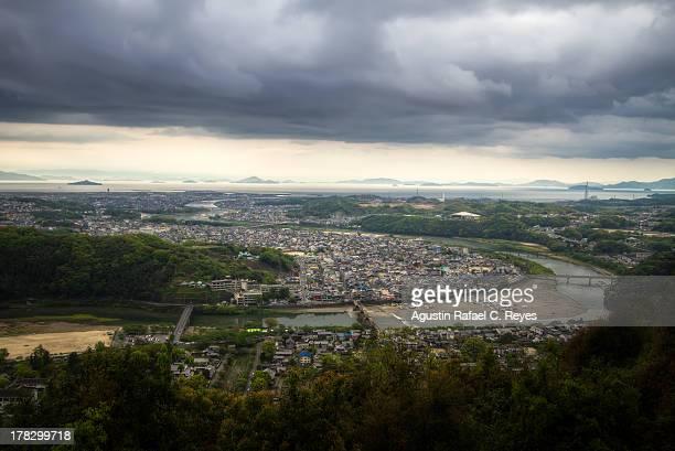 Iwakuni City as seen from Iwakuni Castle
