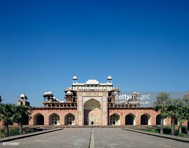 Iwan of the Tomb of Akbar the Great 16051613 Sikandra near Agra Uttar Pradesh India 17th century