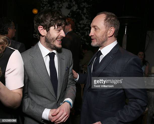 Iwan Rheon and Michael McElhatton attend the after party for the premiere Of HBO's 'Game Of Thrones' Season 6 at the Roosevelt Hotel on April 10 2016...