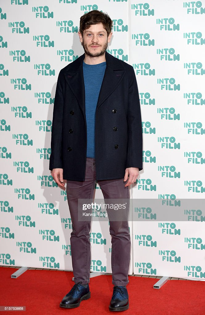 Iwan Rheon arrives for the 2016 Into Film Awards at Odeon Leicester Square on March 15, 2016 in London, England.