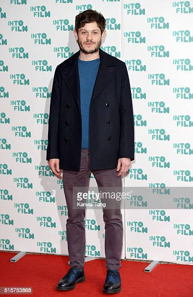 Iwan Rheon arrives for the 2016 Into Film Awards at Odeon Leicester Square on March 15 2016 in London England