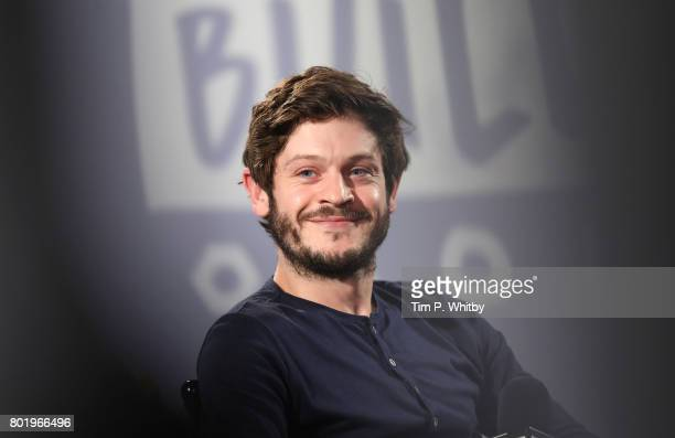 Iwan Rheon talking about his acting roles in television shows Riviera and Inhumans at Build LDN at AOL London on June 27 2017 in London England