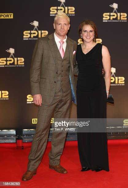 Iwan Thomas and Katharine Merry attend the BBC Sports Personality of the Year Awards at ExCeL on December 16 2012 in London England