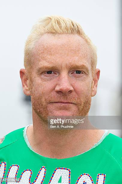 Iwan Thomas poses for photographs at the celebrity start at The London Marathon 2015 on April 26 2015 in London England