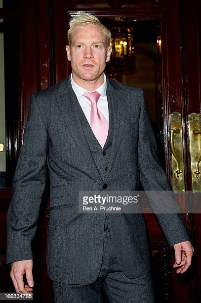 Iwan Thomas sighted arriving at the My Beautiful Ball Fundraiser at the Landmark Hotel on April 11 2013 in London England