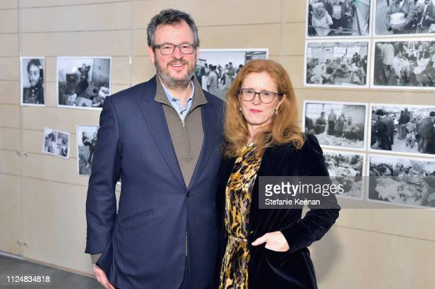 Iwan Wirth and Manuela Wirth attend Hauser Wirth Los Angeles Opening of Annie Leibovitz and Piero Manzoni and Musical Performance by Patti Smith at...