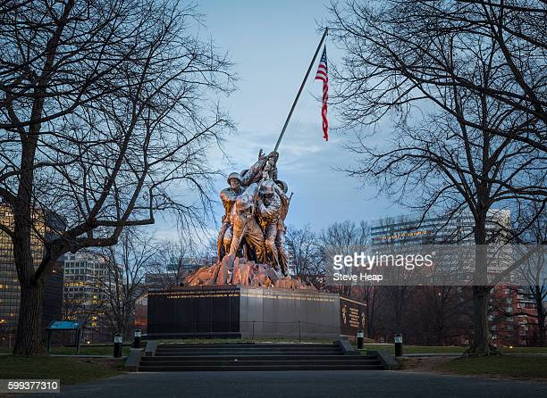 Iwo Jima Memorial also known as the Marine Corps War Memorial, Washington DC, USA at dawn