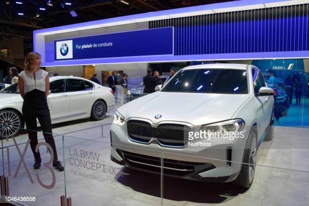BMW iX3 during Mondial Paris Motor Show in Paris France on 4 October 20178 The Mondial Paris Motor Show Paris 2018 evolves with the new technologies...