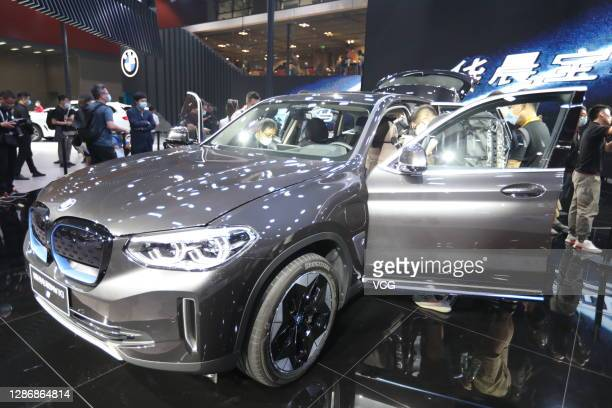 IX3 electric car is on display during the 18th Guangzhou International Automobile Exhibition at China Import and Export Fair Complex on November 20,...