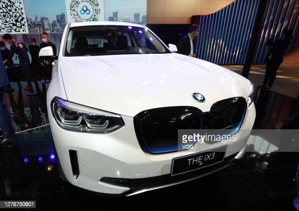 IX3 electric SUV is on display during 2020 Beijing International Automotive Exhibition at China International Exhibition Center on September 26, 2020...
