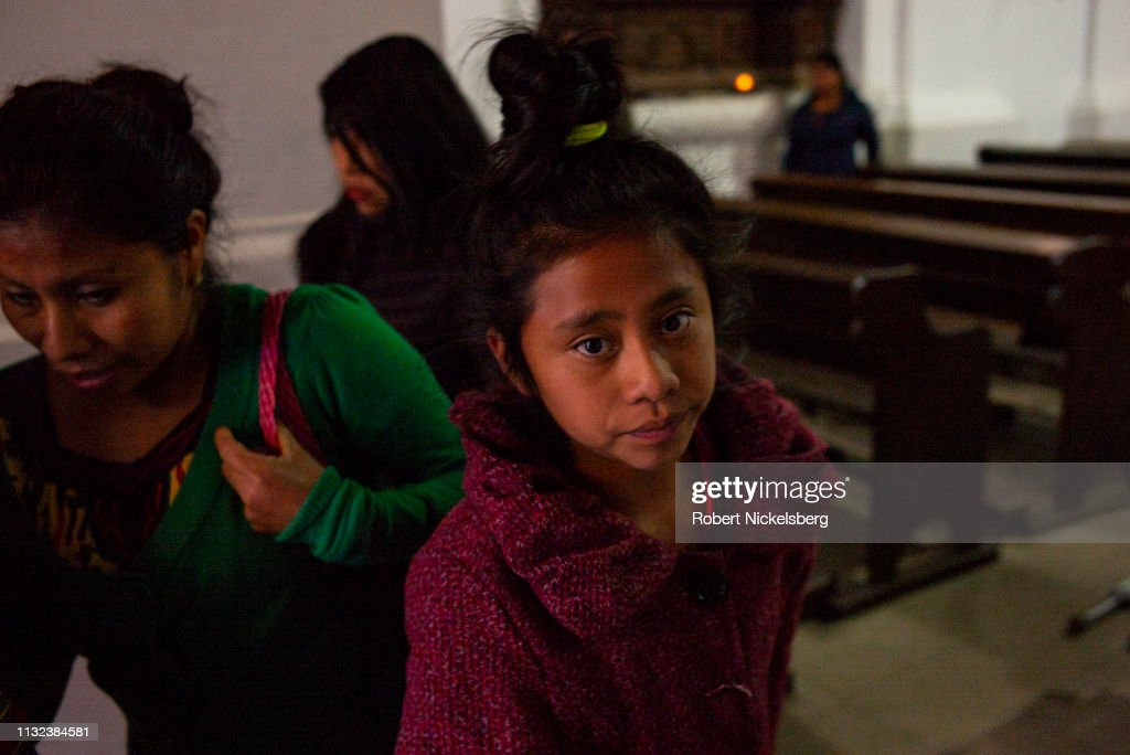 Central Church On Day Of The Epiphany In Nebaj, Guatemala : News Photo